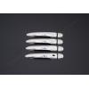 Накладки на дверные ручки (нерж., 4-шт.) для Renault Fluence SD 2010+ (Omsa Prime, 6112043)