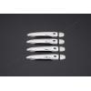 Накладки на дверные ручки (нерж., 4-шт.) для Renault Fluence SD 2010+ (Omsa Prime, 6112043F)