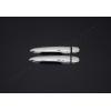 Накладки на дверные ручки (нерж., 2-шт.) для Renault Megane II (3D) HB 2004-2010 (Omsa Prime, 6103042)