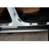 Накладки на пороги (нерж.) для Ford Tourneo Courier 2014+ (Omsa Prime, 2625091)