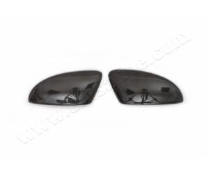 Накладки на зеркала (карбон, 2-шт.) для Volkswagen Eos 2011+ (Omsa Prime, 7538111C)
