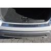 Накладка на задний бампер (нерж., Матовая) для Fiat 500 (3D) HB 2007-2015 (Omsa Prime, 2525093T)