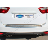 Накладка на задний бампер (нерж., Матовая) для Ford C-Max 2010+ (Omsa Prime, 2609093T)