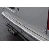 Накладка на задний бампер (нерж., Матовая) для Ford Connect 2002-2009 (Omsa Prime, 2620093T)