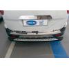 Накладка на задний бампер (нерж., Матовая) для Ford Courier 2014+ (Omsa Prime, 2625093T)