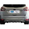 Накладка на задний бампер (нерж., Матовая) для Ford Kuga 2008-2012 (Omsa Prime, 2612093T)