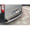 Накладка на задний бампер (нерж., Матовая) для Ford Custom 2012+ (Omsa Prime, 2624093T)