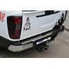 Накладка на задний бампер (нерж., Матовая) для Nissan Navara 2016+ (Omsa Prime, 5026093T)