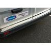 Накладка на задний бампер (нерж., Матовая) для Opel Vivaro II 2001-2014 (Omsa Prime, 6121093T)