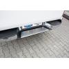Накладка на задний бампер (нерж., Матовая) для Volkswagen Amarok 2010+ (Omsa Prime, 7535093T)