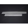 Молдинг дверной (нерж., 4-шт.) для Fiat Linea SD 2012+ (Omsa Prime, 2526131)