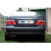 Накладка крышки багажника (над номером, нерж.) для Mercedes-Benz CLK-Class (W208) SD 1997-2003 (Omsa Prime, 4704052)