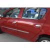 Нижние молдинги стекол (нерж., 4 шт.) для Dacia Sandero Stepway (5D) HB 2012+ (Omsa Prime, 2005141)