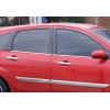 Нижние молдинги стекол (нерж., 4 шт.) для Ford Focus I (5D) HB/SD 1998-2005 (Omsa Prime, 2601141)