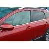 Нижние молдинги стекол (нерж., 4 шт.) для Nissan Qashqai+2 2010-2014 (Omsa Prime, 5021142)