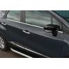 Нижние молдинги стекол (нерж., 4 шт.) для Renault Captur 2013+ (Omsa Prime, 6142141)