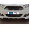 Накладки на передний бампер (нерж., 2 шт.) для Ford Courier 2014+ (Omsa Prime, 2625082)