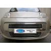 Накладки на передний бампер (нерж., 4 шт.) для Peugeot Bipper 2008+ (Omsa Prime, 2521082)