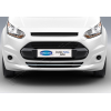 Накладка на передний бампер (нерж., 1 шт.) для Ford Connect 2014+ (Omsa Prime, 2627083)