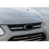 Накладки на решетку радиатора (нерж., 2 шт.) для Ford Custom 2012+ (Omsa Prime, 2624082)