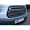 Накладки на решетку радиатора (нерж., 3 шт.) для Ford Transit 2014+ (Omsa Prime, 2626081)