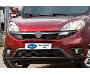 Светодиодные дневные ходовые огни (Черн., 2 шт.) для Fiat Doblo II 2015+ (Omsa Prime, 2524110F)
