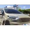 Накладки на передние фонари (реснички, нерж.) для Ford Courier 2014+ (Omsa Prime, 2625102)