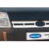 Накладка на решетку радиатора (нерж.) для Ford Connect 2002-2006 (Omsa Prime, 2620082)