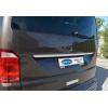 Накладка над номером на крышку багажника (нерж.) для Volkswagen Transporter (T6) 2015+ (Omsa Prime, 7550054)