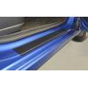 Защитная пленка на пороги (карбон, 8 шт.) для Nissan Sentra 2015+ (Nata-Niko, KP-NI31)