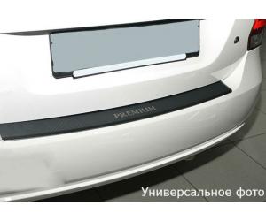 Накладка с загибом на задний бампер (карбон) для MG 6 (5D) 2010+ (NataNiko, Z-MG05+k)