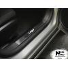 Накладка на внутренний пластик порогов для Peugeot Kadjar 2015+ (NATA-NIKO, PV-RE33)