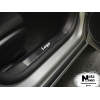 Накладка на внутренний пластик порогов для Skoda Rapid/Spaceback 2013+ (NATA-NIKO, PV-SK10)