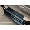 Накладка на внутренний пластик порогов (карбон) для Renault Megane III/Fluence (5D) 2009+ (NATA-NIKO, PV-RE16+k)