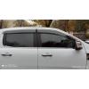 Дефлекторы окон (с молдингом из нерж. стали) для Ford Ranger (T6/T7) 2012+ (ASP, BFDRG1523-W/S)