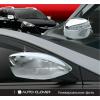 Хром накладки на зеркала (к-кт. 2 шт., без повторителя) для Chevrolet Aveo 2006-2011 (AUTOCLOVER, A686)