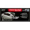 Дефлекторы окон (хром) для Kia Optima 2010-2014 (AUTOCLOVER, A478)