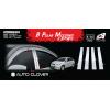 Хром накладки на стойки дверей (к-кт. 4 шт.) для Hyundai Accent 2010+ (AUTOCLOVER, B150)
