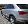 Боковые пороги (X5-TYPE) для Audi Q3 2011+ (Erkul, bra002.alg173)