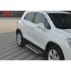Боковые пороги (X5-TYPE) для Chevrolet Trax 2012+ (Erkul, bra008.alg163)