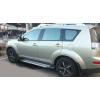 Боковые пороги (X5-TYPE) для Mitsubishi Outlander/ Peugeot 4007/ Citroen C-Crosser 2008+ (Erkul, bra067.alg183)
