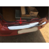 Накладка на задний бампер (нерж., 1 шт.) для Dacia/Renault Logan II 2008-2013 (Carmos, car0280)