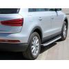 Боковые пороги (BlackLine) для Audi Q3 2011+ (Erkul, bra002.bkl173)