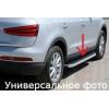 Боковые пороги (BlackLine) для Chevrolet Trax 2012+ (Erkul, bra008.bkl163)