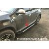 Боковые пороги (RedLine V1) для Fiat 500L 2012+ (Erkul, bra016.rln1183)