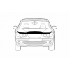 Дефлектор капота для Mitsubishi Grandis 2004-2011 (Novline, NLD.SMIGRA0412)