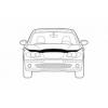 Дефлектор капота для Toyota Land Cruiser 100 1998+ (Novline, NLD.STOLCR9812)