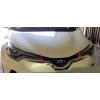 Хром накладки на передний бампер (под эмблему) для Toyota C-HR 2016+ (ASP, SAA-SN2619)