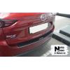 Накладка с загибом на задний бампер (карбон) для Mazda CX-5 2017+ (NataNiko, Z-MA14+k)