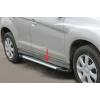 Боковые пороги (Line) для Volkswagen LT (длинная база) 1998+ (Erkul, bra063.lin313)